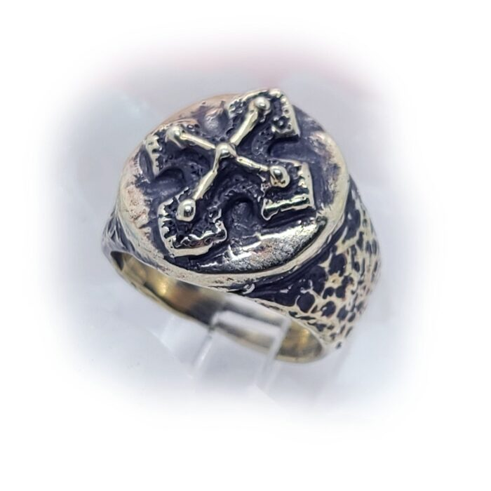 Antique Cross Silver Ring