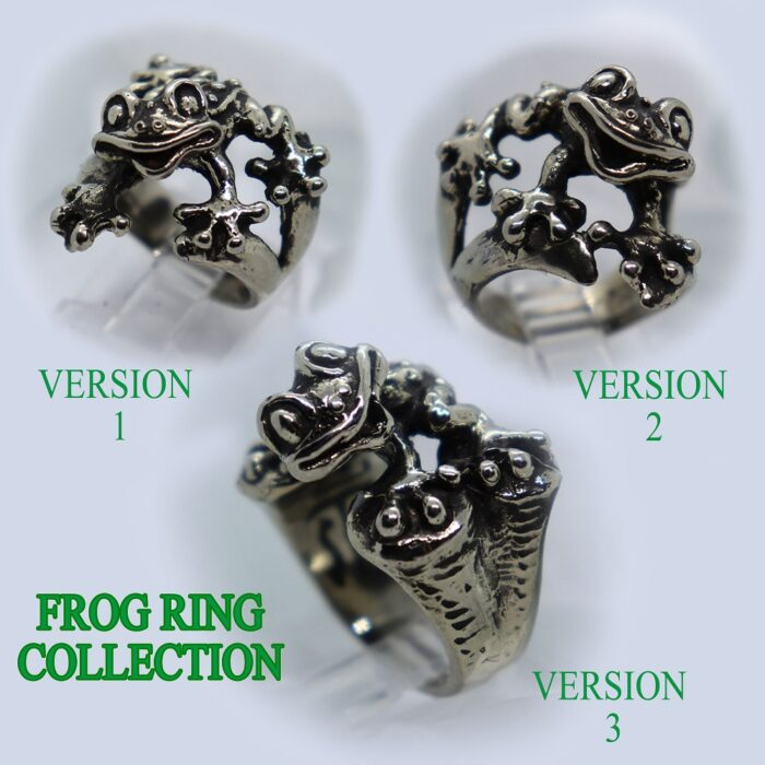 Frog Silver Ring Collection