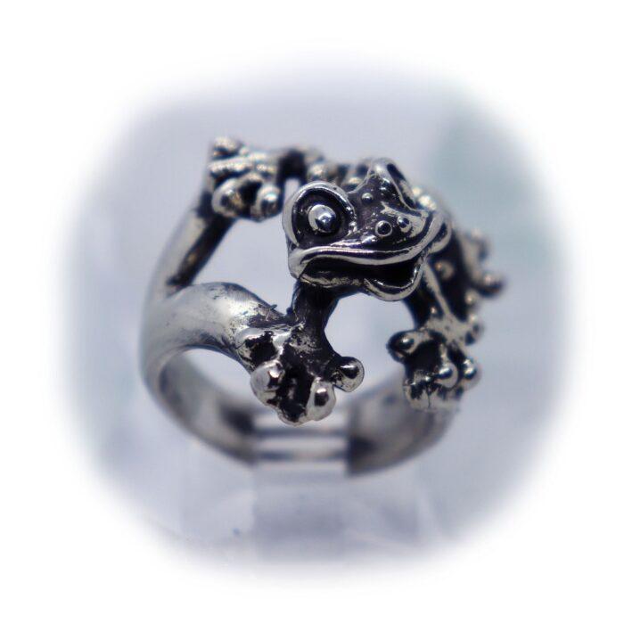 Frog Silver Ring V1 2 image