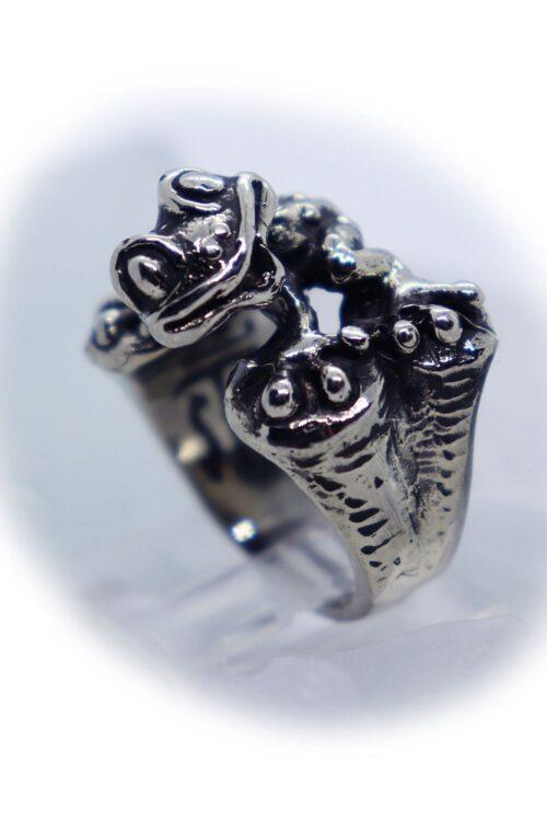 Frog Silver Ring V3