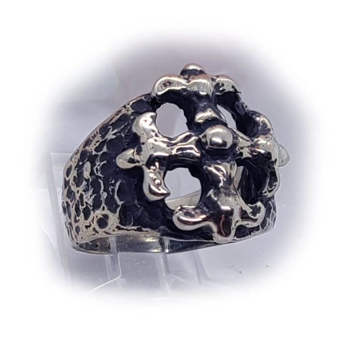 Gothic Cross Silver Ring 2