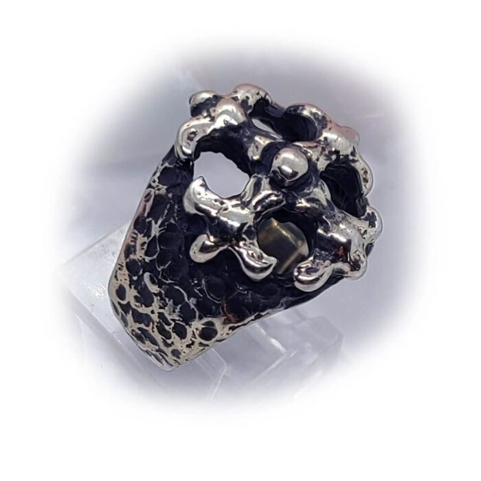 Gothic Cross Silver Ring 3