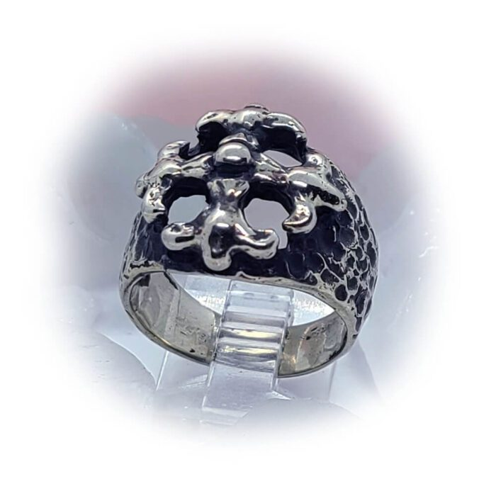 Gothic Cross Silver Ring 5