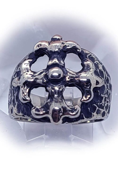 Gothic Cross Silver Ring
