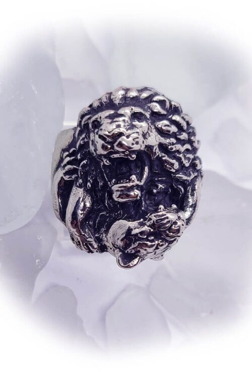Lions Love Silver Ring