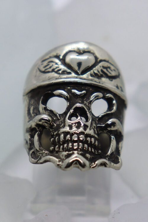 Lover Skull Silver Ring
