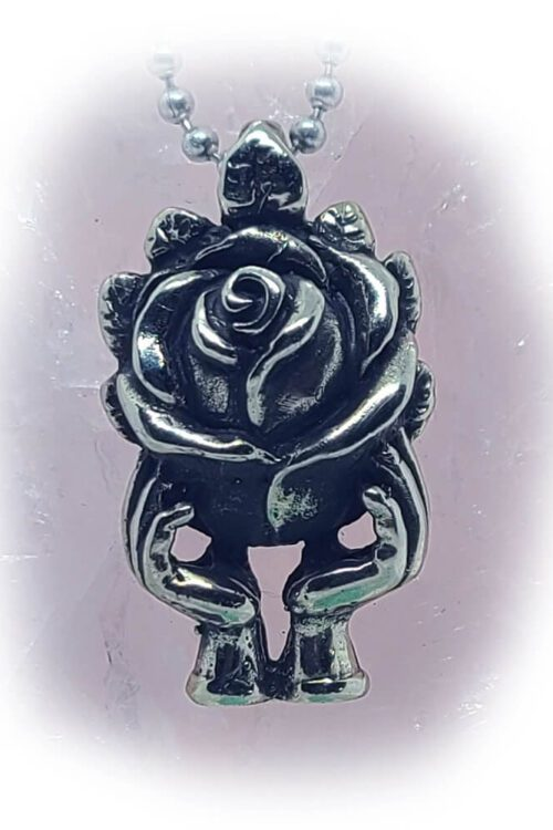 Rose World Silver Pendant