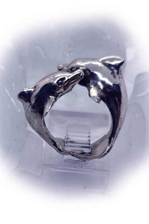 playing dolphins silver ring