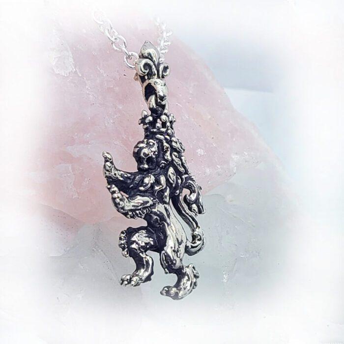 Renaissance Lion Crown Pendant