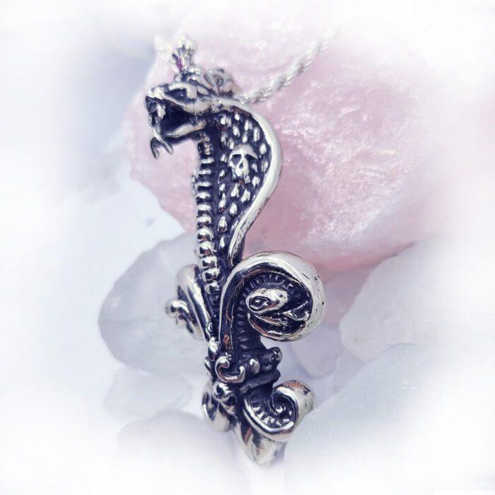 Poison Snakes Skulls Fleur de lis Crown Pendant 3