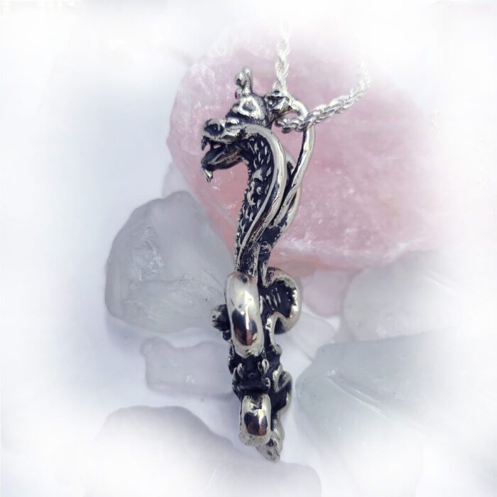 Poison Snakes Skulls Fleur de lis Crown Pendant 5