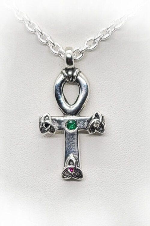 Ankh Egyptian Cross Celtic Knot Necklace 1