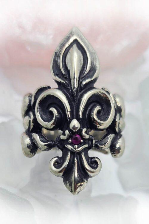 Unique Fleur De Lis ring