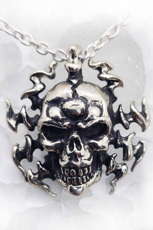 Electrifying Skull Pendant