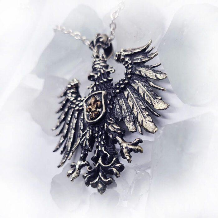 Heraldic Eagle Fleur-De-Lis Pendant 3
