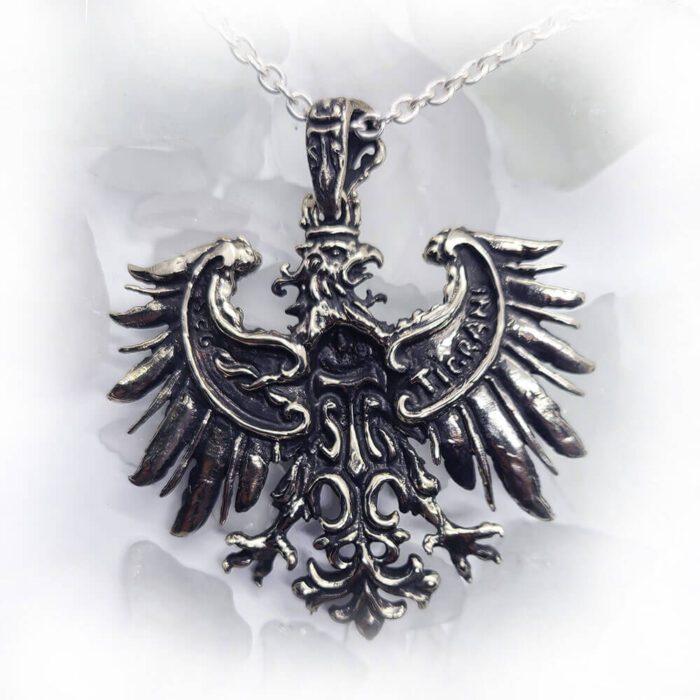 Heraldic Eagle Fleur-De-Lis Pendant 4