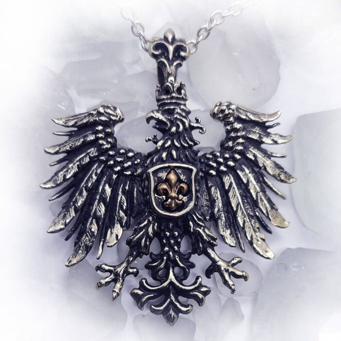 Heraldic Eagle Fleur-De-Lis Pendant