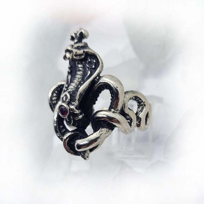 King Cobra with Rubies Ring 2