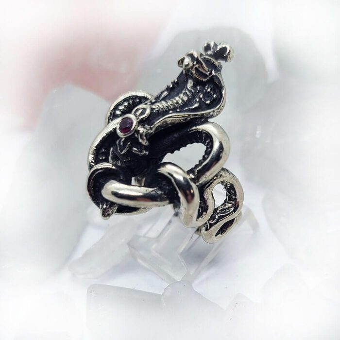 King Cobra with Rubies Ring 5