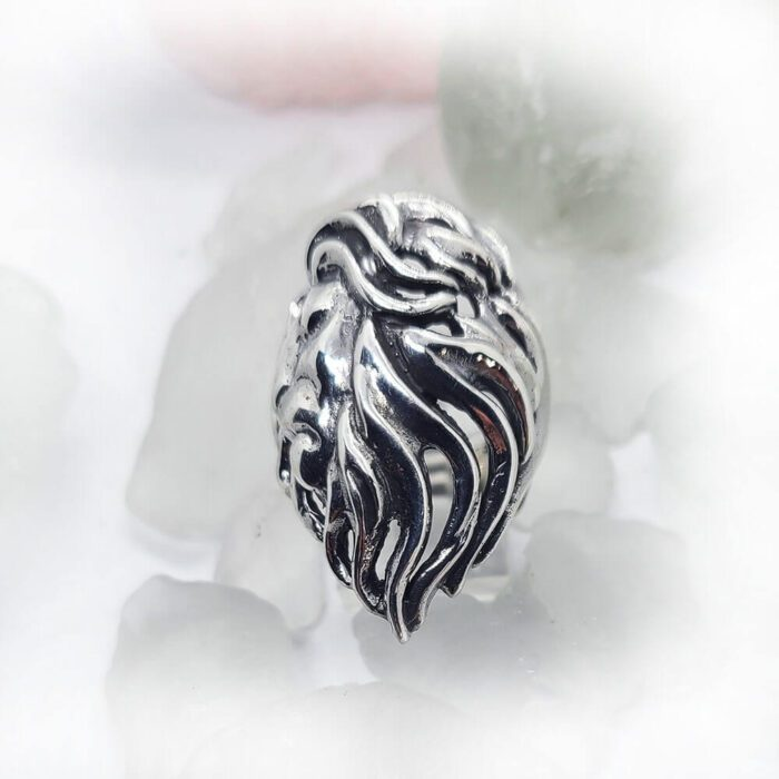 Lion Sterling Silver Ring 2