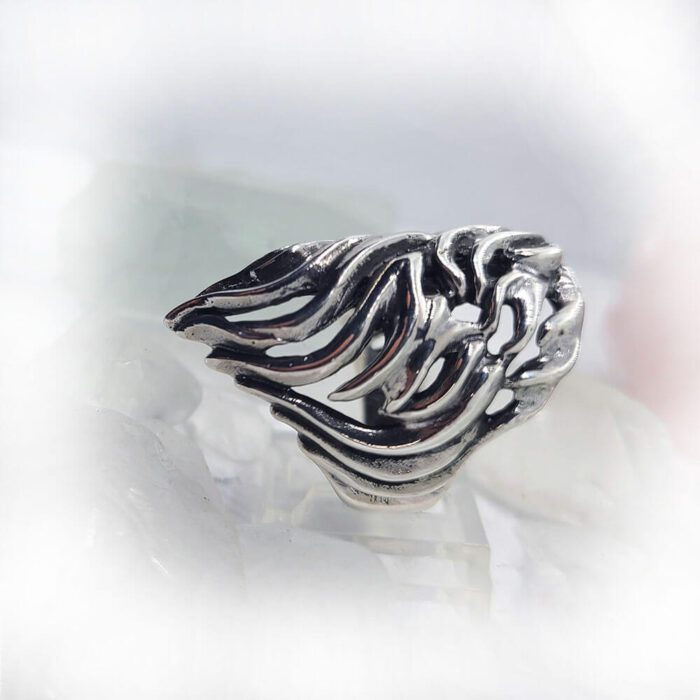 Lion Sterling Silver Ring 3