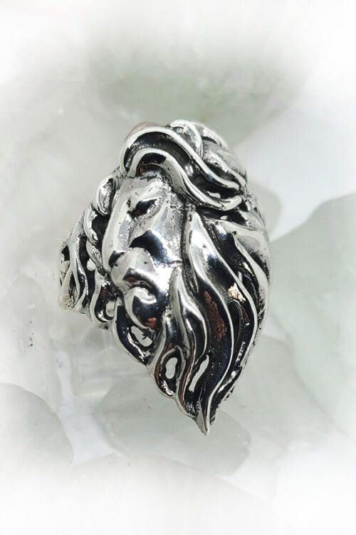 Lion Sterling Silver Ring