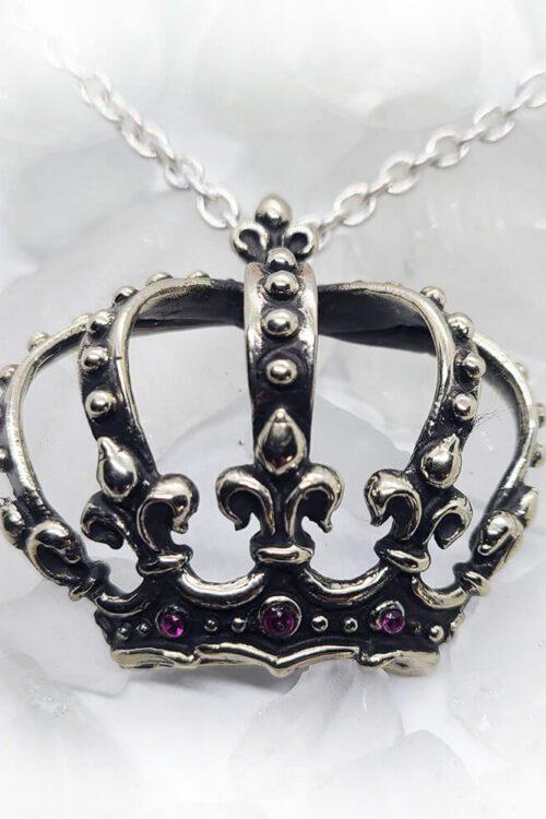 Magical Crown Rubies Pendant