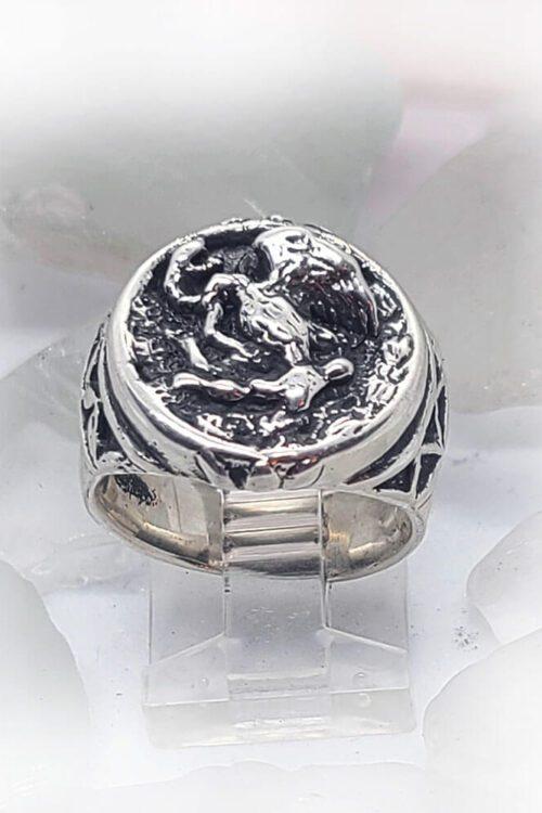 Mexico Golden Eagle Ring