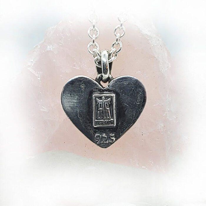 Poison Cobra in Heart Sterling Silver Pendant 4