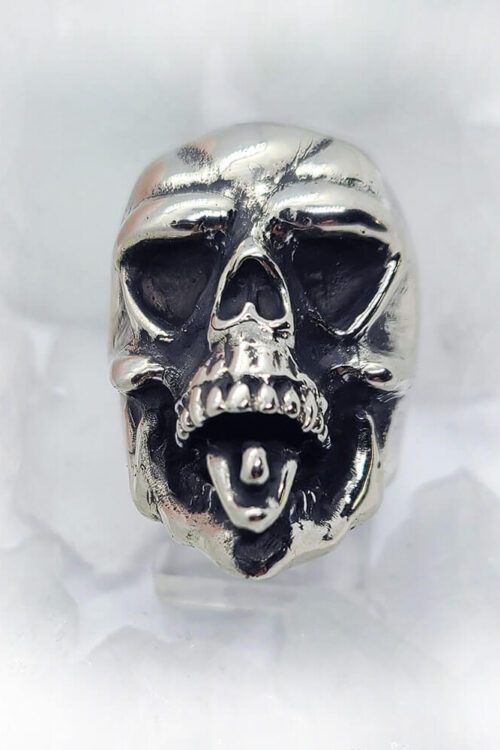 Skull with Tongue Ring