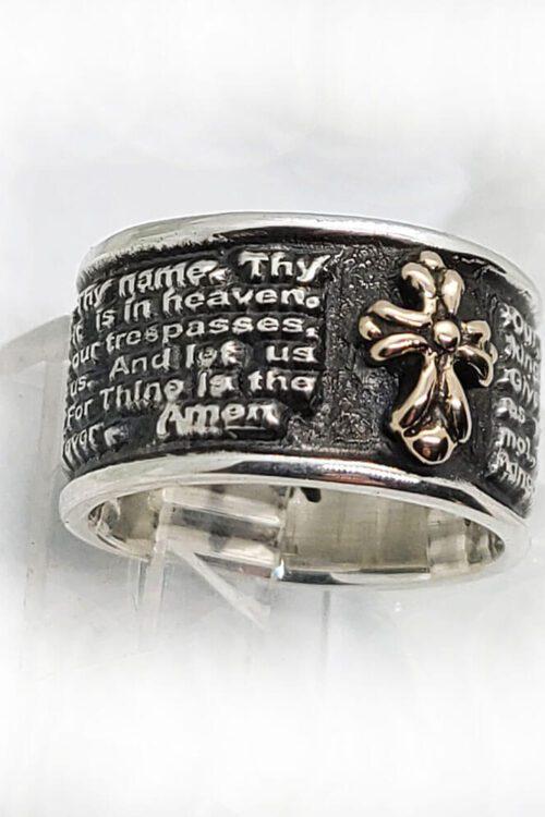 English Prayer Sterling Silver Ring 1