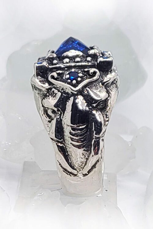 Royal Elephant with CZ Stones Sterling Silver Ring