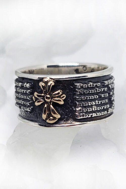 Spanish Prayer Sterling Silver Ring V1 Small 1