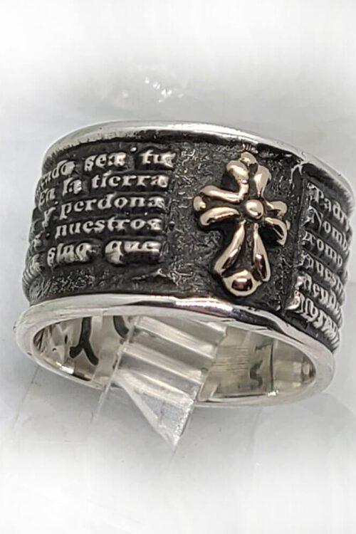 Spanish Prayer Sterling Silver Ring V2 Big 1
