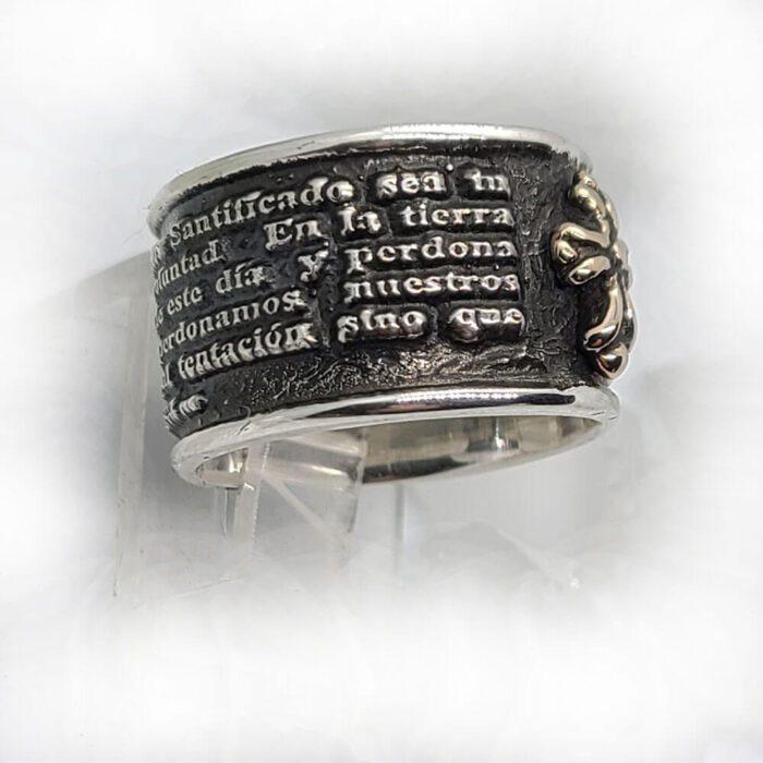 Spanish Prayer Sterling Silver Ring V2 Big 2