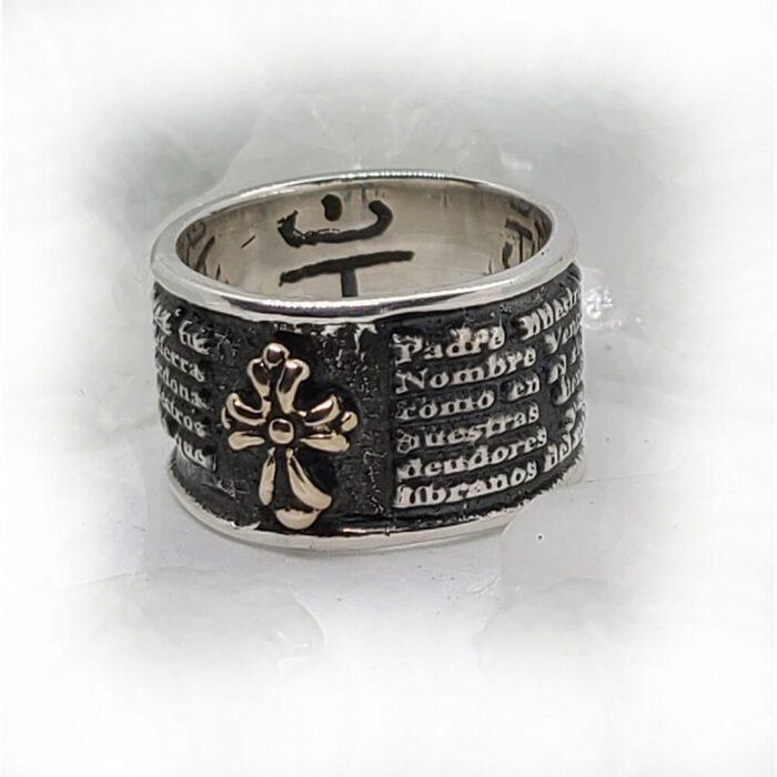 Spanish Prayer Sterling Silver Ring V2 Big 3